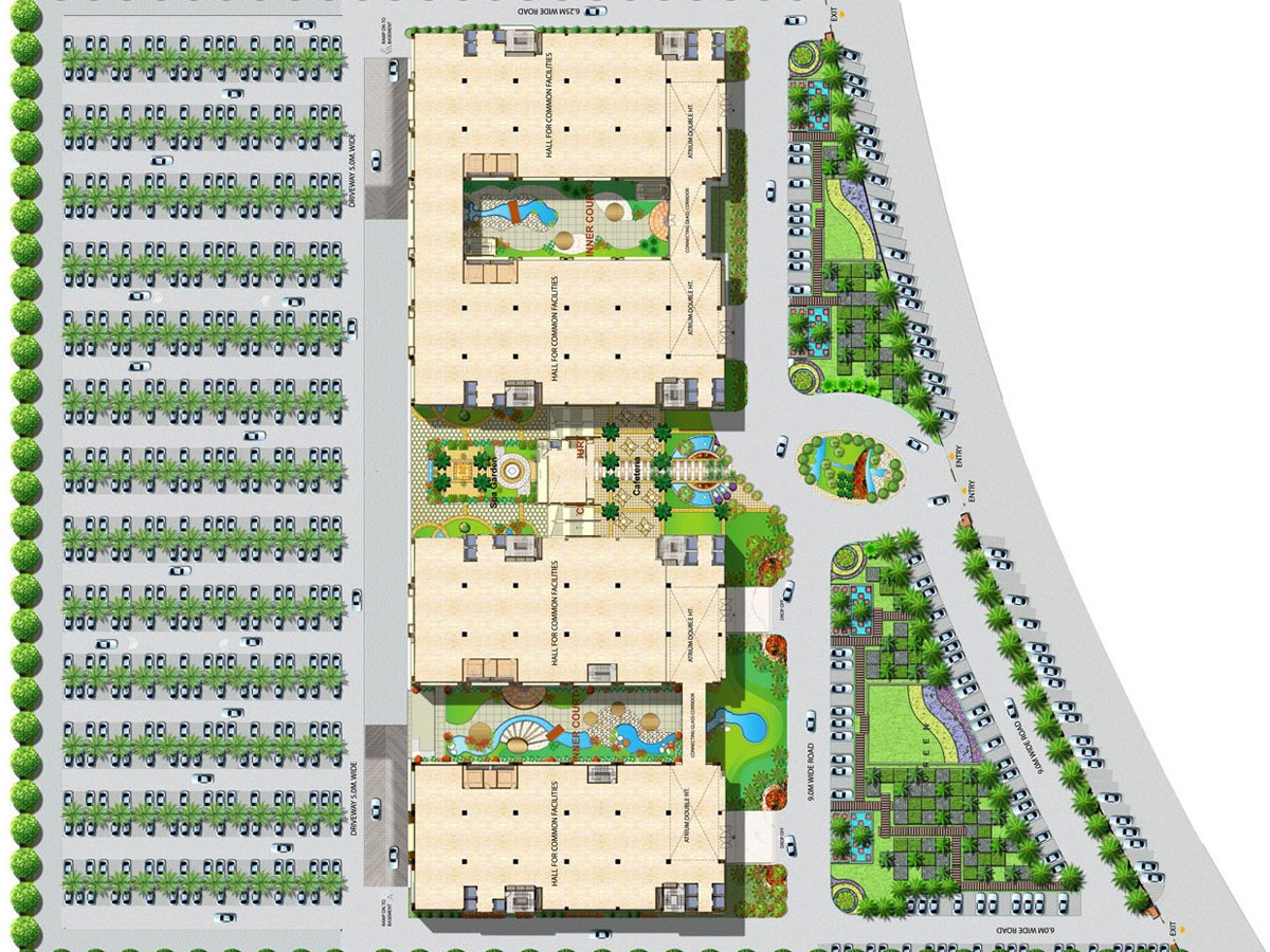 Logix Cyber Park 3 BHK Flats in Noida Extension Logixgroupin – Parking Layout Plan